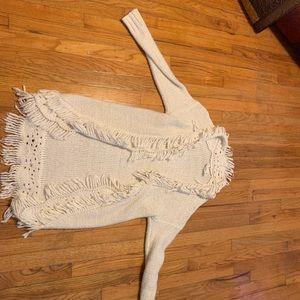 White sweater/ cardigan